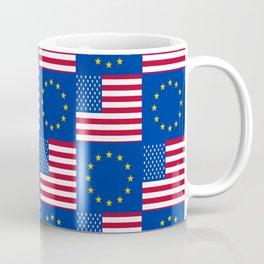 Mix of flag: USA and UE Coffee Mug