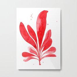 Underwater Botanical Red no. 1 Metal Print