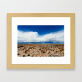 The Calm in Death Valley Framed Art Print