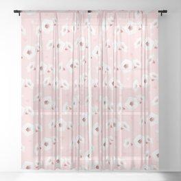 White Zucchini Flower Sheer Curtain