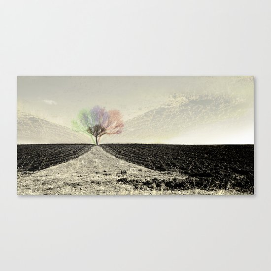 RGB Tree Canvas Print