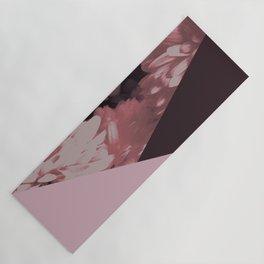 Pink mums geometrical collage Yoga Mat
