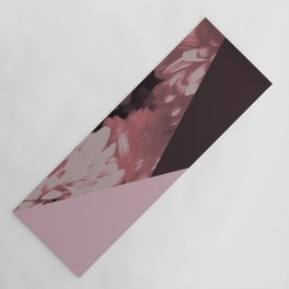 Pink mums geometrical collage Yoga Mat