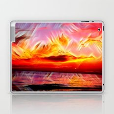Sky on Fire (Sunset over Great Lake Michigan Beach) Laptop & iPad Skin