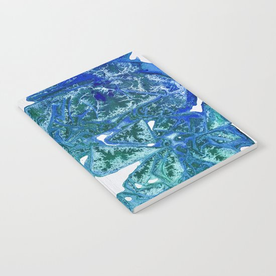 Sea Leaves, Environmental Love of the Ocean Blue Notebook