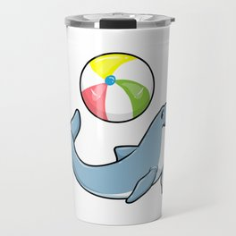 Dolphin at Swimming with Water polo Travel Mug