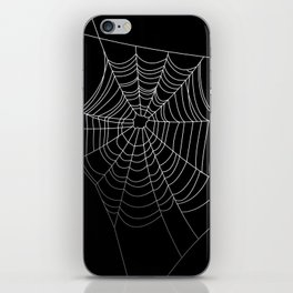 Spider Web Art | Halloween Collection | Spooky | Scary | Vector Art | Black and White iPhone Skin