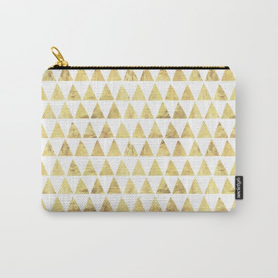 Triangles gold 6 Carry-All Pouch