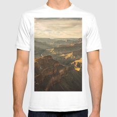 Grand Canyon White Mens Fitted Tee MEDIUM
