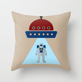Human Invasion In Style Throw Pillow