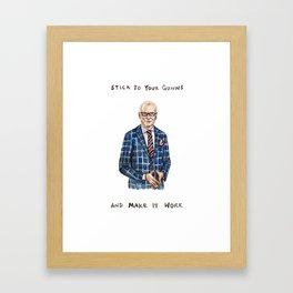 Tim Gunn - Funny Make it Work Illustration Framed Art Print