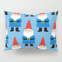 Gnome Repeat in Blue Pillow Sham