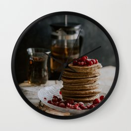 Pancakes Wall Clock