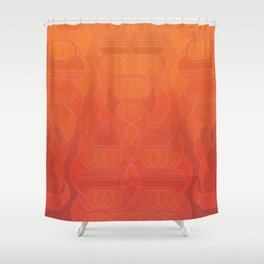 Round and About Coral Shower Curtain