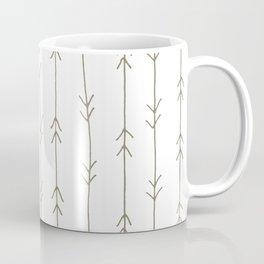 Arrow Pattern: Mud Brown Coffee Mug