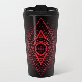 The Eye of Providence is watching you! (Diabolic red Freemason / Illuminati symbolic) Travel Mug