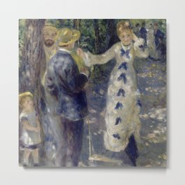 "Auguste Renoir ""The Swing"" Metal Print"