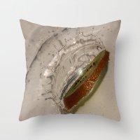 kiwi Throw Pillows featuring kiwi by Helenehoie