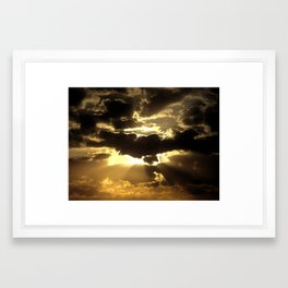 Gilded Sky Framed Art Print