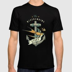 Anchor | Petrol Grey X-LARGE Black Mens Fitted Tee