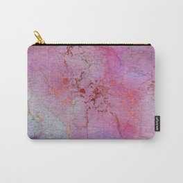Modern abstract gold pink lilac watercolor marble Carry-All Pouch