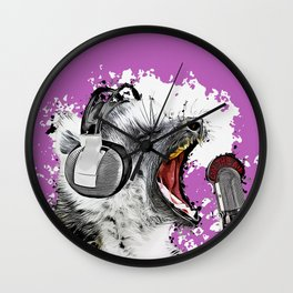 Singing Lemur II Wall Clock
