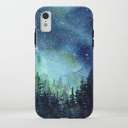Galaxy Watercolor Aurora Borealis Painting iPhone Case