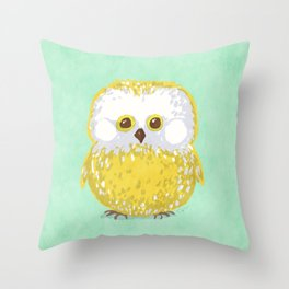 Oly the Owl  Throw Pillow