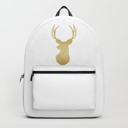 Gold Glitter Reindeer Backpack