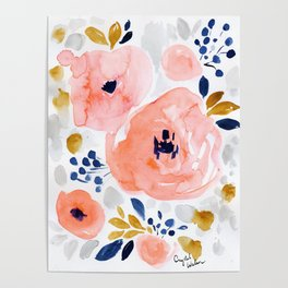 Genevieve Floral Poster