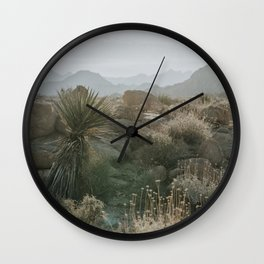 Joshua Tree National Park at Sunrise Wall Clock
