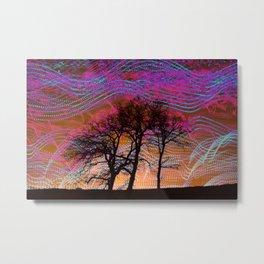 Disco Dancing Trees Metal Print