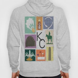 Kansas City Landmark Print Hoody