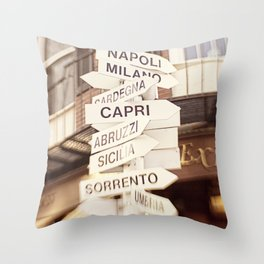 Lead me to Italy Throw Pillow