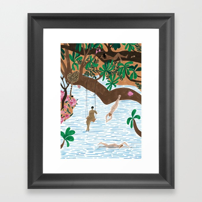 The Jungle Beach Framed Art Print by isabellefeliu | Society6