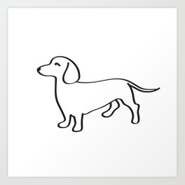 Doxie Love Art Print