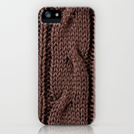 Brown braid jersey cloth texture abstract iPhone Case