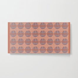 Circles and Stripes Metal Print