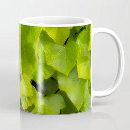 Green leaves with dew Coffee Mug