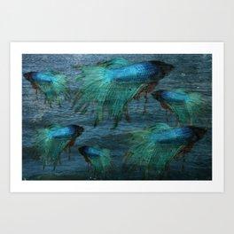 Blue Beta Test Art Print