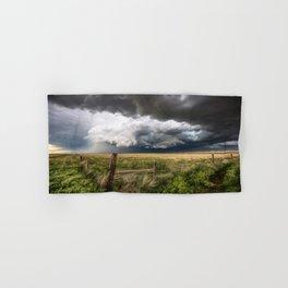 Aquamarine - Storm Over Colorado Plains Hand & Bath Towel