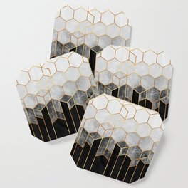 Charcoal Hexagons Coaster