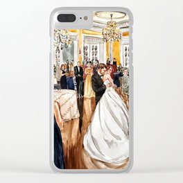 Meredith & Tyler Wedding Painting 2017 Clear iPhone Case