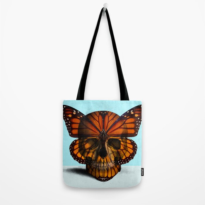 SKULL (MONARCH BUTTERFLY) Tote Bag