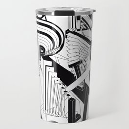 History of Art in Black and White. Conceptualism Travel Mug