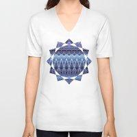 constellation V-neck T-shirts featuring Constellation by Zandonai Pattern Designs