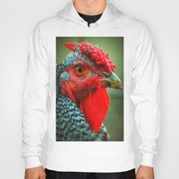 rooster Hoodies featuring Rooster by Nichole B.