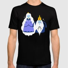 Ice Couple LARGE Black Mens Fitted Tee