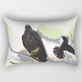 Eagle and Crow Rectangular Pillow