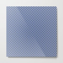 Sapphire and White Polka Dots Metal Print